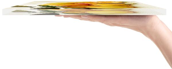 Küchenbild aus Glas von der Seite