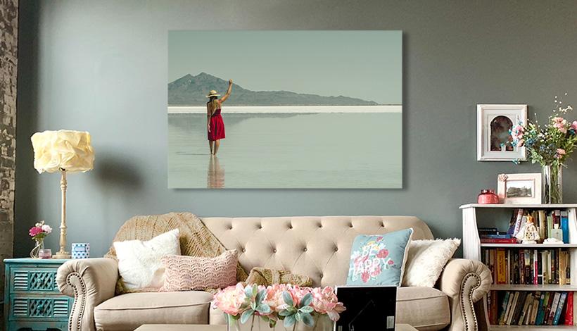 acrylglas ueber couch
