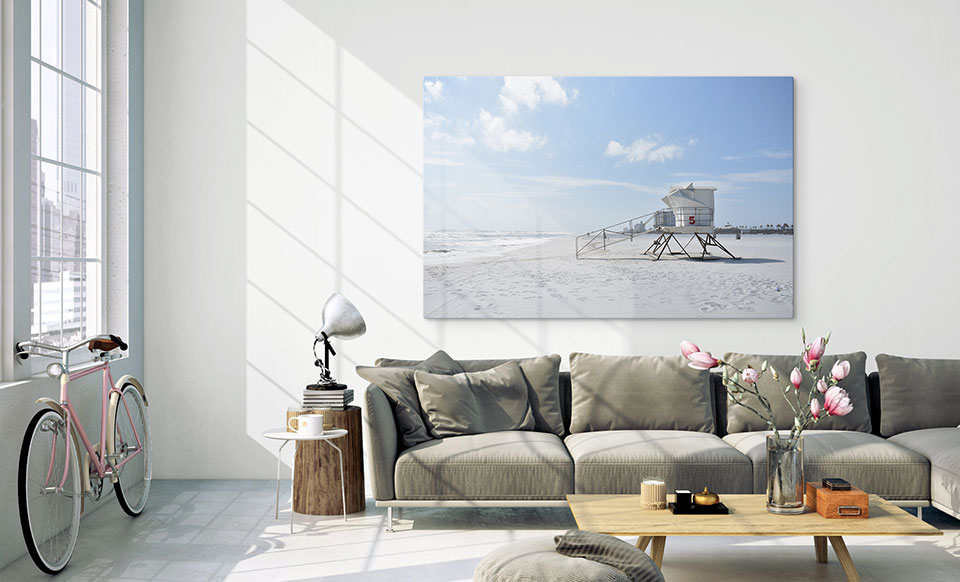 Foto auf Plexiglas über dem Sofa