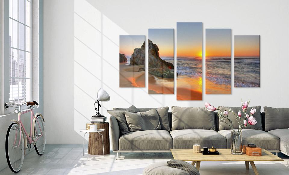 fotoacrylglas mehrteiler wohnung