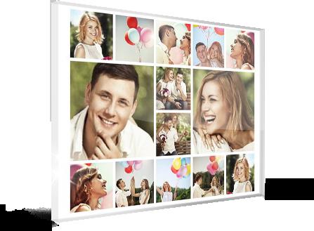 fotocollage auf acrylglas produkt
