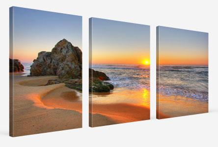 mehrteiler strand sonnenuntergang acrylglas
