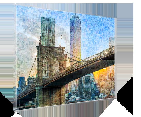 Fotomosaik hinter Acryglas gedruckt