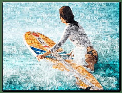Fotomosaik auf Acrylglas