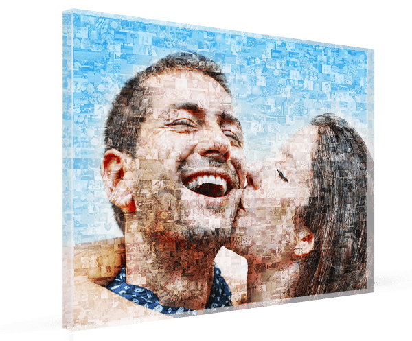 Fotomosaik auf 8 mm Acrylglas
