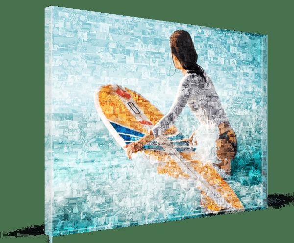 Foto Mosaik auf 8 mm Acrylglas