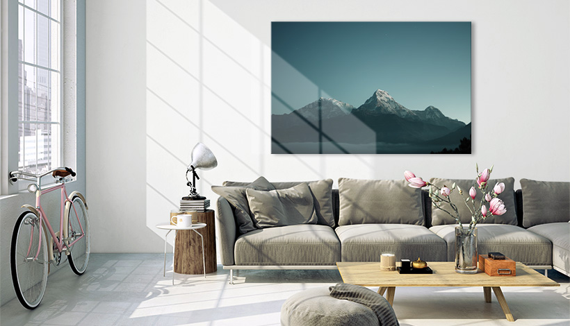 panorama acrylglas in wohnzimmer
