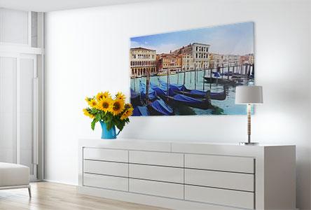 Acrylglas Foto über Kommode