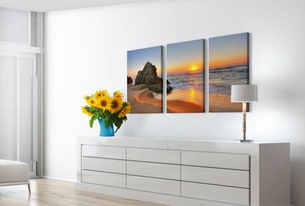 wohnraum strand mehrteiler sonnenuntergang acrylglas